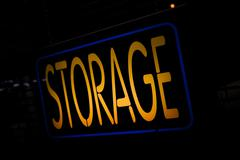 Neon sign storage Stock Illustration