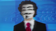 Vendetta mask man anonymous activist Stock Footage