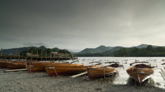 Keswick boats lake district england Stock Footage