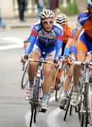 Quickstep's cyclist Belgian Julien Vermote - stock photo