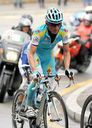 Pro Team Astana's cyclist Russian Evgeni Petrov - stock photo