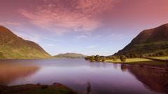 Buttermere lake district timelapse england Stock Footage