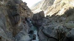 2.7K. Mountain river. Melting glacier Ngozumpa, Himalayas, Nepal. Full HD Stock Footage
