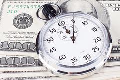 stopwatch closeup - stock photo