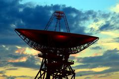radio observatory - stock illustration