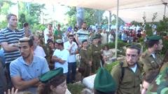 Israeli soldier funeral Stock Footage