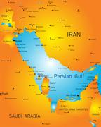 persian gulf - stock illustration