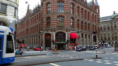 Magna Plaza Shopping Center in Amsterdam - stock footage