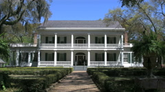 Louisiana Rosedown Plantation house with porches 4k Stock Footage