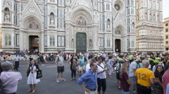Florence Cathedral-Basilica di Santa Maria del Fiore, Florence ,Italy - stock footage