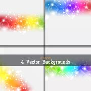 Set of backgrounds Stock Illustration