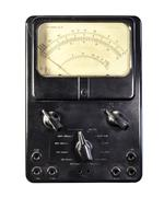 old ammeter - stock photo