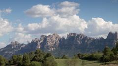 Montserrat mountain barcelona spain timelapse Stock Footage