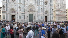 Florence Cathedral-Basilica di Santa Maria del Fiore, Florence ,Italy Stock Footage