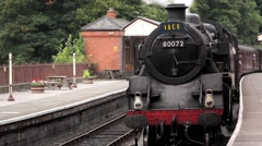 Steam Train Arrival - Station, llangollen Stock Footage