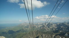Picdumidi cablecar pyreness mountain Stock Footage