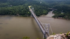 4k timelapse hudson river bear mountain bridge - stock footage