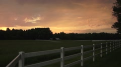 Farm Sunset 1 Stock Footage