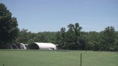Hangar on Farm 1 - stock footage
