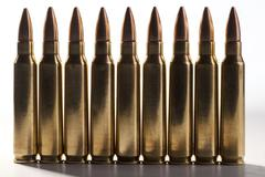 Stock Photo of rifle bullets