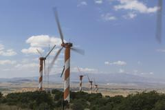 Rotating windmill Stock Photos