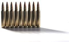 standing bullets - stock photo