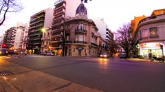 Evening in Buenos Aires Stock Footage