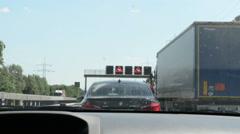Traffic jam on A2 motorway (Germany) Stock Footage