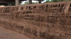 4K Muddy Waterfall Arizona Monsoon Season Stock Footage