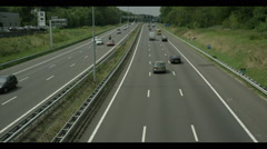 Highway A9 Traffic Amsterdam RED EPIC DRAGON 6K clip 2. Stock Footage