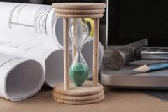 Green hourglass Stock Photos