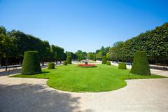 schonbrunn palace royal residence garden - stock photo