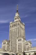 Palace of culture and science. Stock Photos