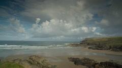Polzeath cornwall coast beach england Stock Footage