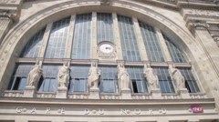 Paris - Gare Du Nord outside Stock Footage