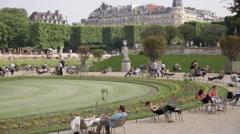Paris Tuileries B roll Stock Footage