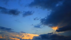 Clouds, illuminated by the setting sun Stock Footage