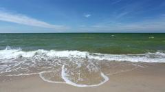Baltic Sea Sandy Beach Waves Stock Footage