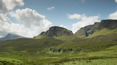 Quiraing isle of skye scotland timelapse mountains Stock Footage