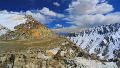 Panorama from the top of the pass Kardungla Stock Footage