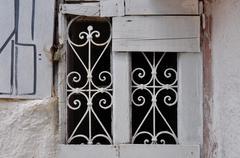 old window metal motif - stock photo