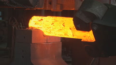 Metallurgy. The factory. Melting. Forming. Stock Footage