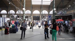 Paris - Gare Du Nord Stock Footage