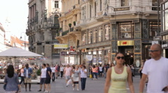 The Graben is one of the first residential streets in Vienna Stock Footage