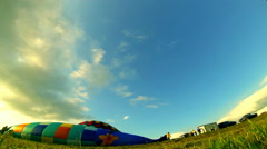 HD Stock Footage - Hot Air Balloons taking off timelapse Stock Footage