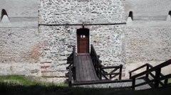 Stock Video Footage of Old fortress building, stone wall, monument, fortification, castle, tilt up