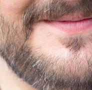 beard. macro - stock photo