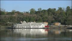 Mississippi Natchez steamboat at Under the Hill 4k Stock Footage