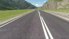 Aerial Stock Footage FlyBy Over Higway in Mountans Stock Footage