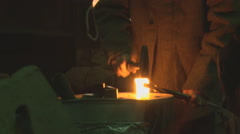 Metallurgy. The factory. Melting. Forming. Steelmaker. Stock Footage
